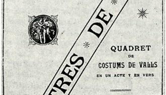 Xavier Brotons revisa el quadret de costums «Lo tres de nou»