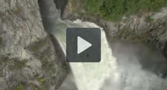 Un gironí venç la cascada impossible Keyhole de Canadà