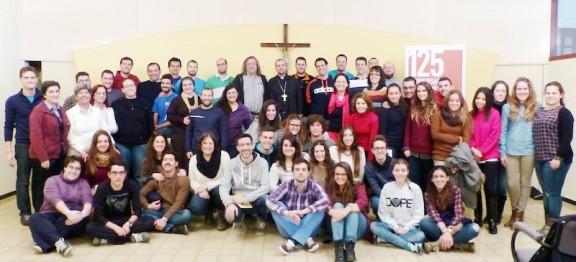 55 joves d'arreu d'Espanya passen el cap de setmana amb el bisbe de Solsona