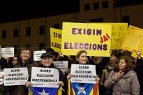 Crits «d'eleccions i independència» a la visita d'Artur Mas a Girona