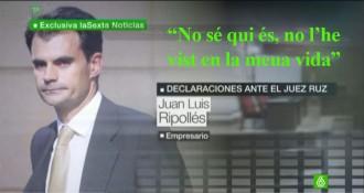 L'empresari ampostí Ripollés nega davant el jutge Ruz conèixer Jordi Pujol Ferrusola