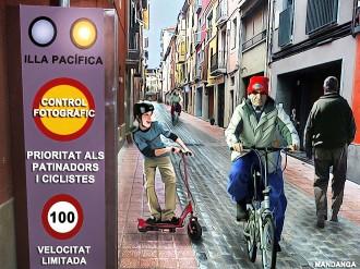 L'Ajuntament de Vic obre una illa de patinadors i ciclistes