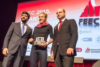 Núria Picas, Jessed Hernàndez i Oriol Cardona, homenatjats a la Festa FEEC