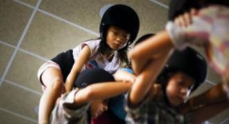 La Jana, dels Castellers de Sants, al «China Daily»