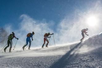Les fotos de la vertical de la Font Blanca de la Copa del Món a Andorra