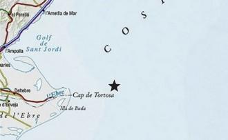 Registrat un sisme de 2,4 graus davant del Cap de Tortosa