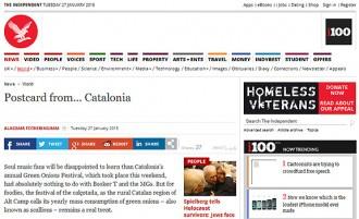 Vés a: «The Independent», meravellat per l'«annual Green Onions Festival» de Valls