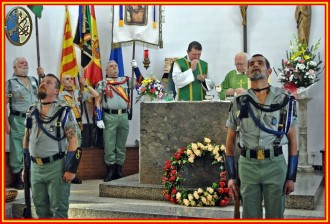 Missa concelebrada de legionaris, guàrdies civils, mossos i policies