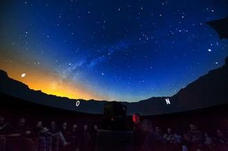 Granollers, amb Júpiter a l'altra banda del telescopi