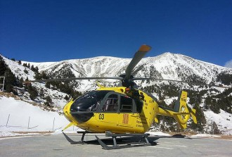 Els Bombers rescaten un esquiador de muntanya lesionat al Bastiments