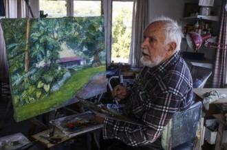 El pintor Narcís Galià dóna part de l'obra a Alcanar