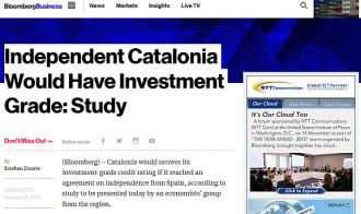 Vés a: L'estudi sobre la bona salut de l'Estat català arriba a Bloomberg