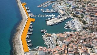 Comença la reforma del moll del dic de llevant al port de l'Ametlla de Mar