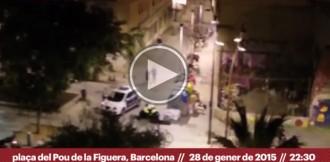 Vídeo: violenta detenció d'un jove pels Mossos d'Esquadra ahir a Barcelona