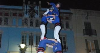 Els Castellers de la Vila de Gràcia enceten l'any avui