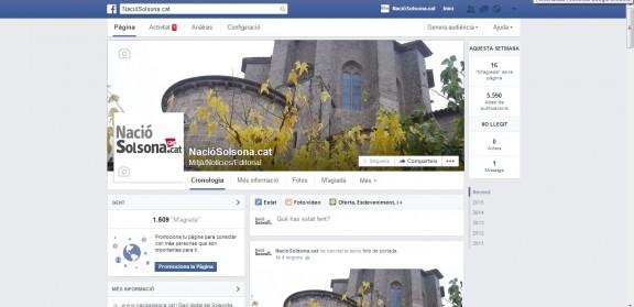 NacióSolsona supera els 1500 seguidors al Facebook