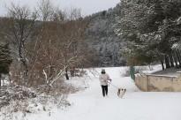 La nevada amaina i dóna pas a un fred de rigorós hivern