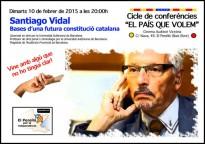 El jutge Vidal és avui al vespre al Perelló per parlar de la constitució catalana