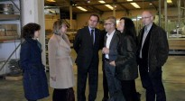 El director general d'Indústria s'interessa per la situació de la Sénia
