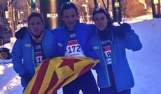 Laia Andreu i Just Sociats, subcampions del món de raquetes de neu al Quebec