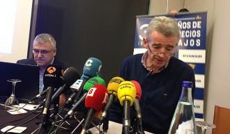 Ryanair anuncia voler «tornar a créixer un altre cop a Girona i Reus»
