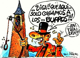 ...la pantomima de l'arribada del Carnestoltes irrita les Espanyes...???