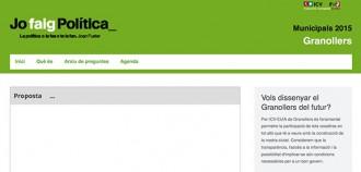 ICV-EUiA de Granollers posa en marxa un web de participació