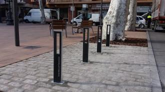 Fotonotícia: Aparca bicicletes de disseny a Santa Maria de Palautordera