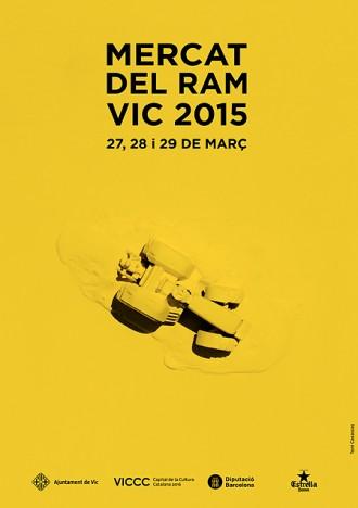 Toni Casassas és l'autor del cartell del Mercat del Ram de Vic 2015