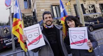 Clam per Santi Vidal a la delegació del govern espanyol a Barcelona
