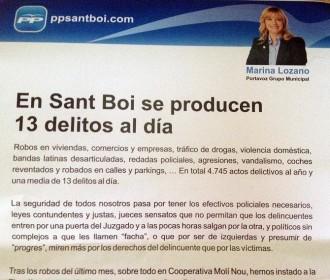 PP de Sant Boi: «Calen polítics sense complexos que els diguin fatxa»