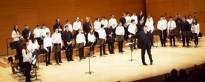 Un alumne de tible de l'Escola Municipal de Música participa en la Cobla del Futur