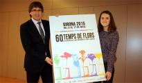 Girona presenta la imatge de la seixantena edició del Temps de Flors