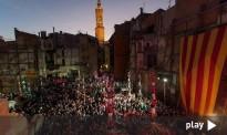Els vídeos dels pilars a l'acte d'inici de les obres del Museu Casteller