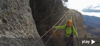 Vídeo de l'ascensió de la rehabilitada via ferrada de Montsant