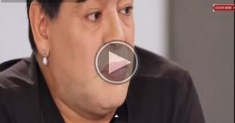 Maradona apareix a la televisió amb uns llavis estranys