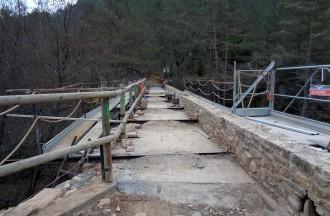 Borredà acaba la primera fase de la restauració del pont de Sant Joan