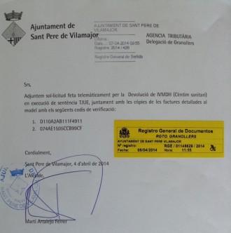 Sant Pere de Vilamajor ingressa prop de 2.500 euros del cèntim sanitari