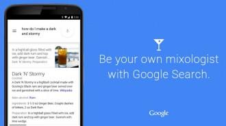 Google ofereix receptes per fer còctels