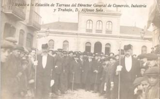 Rebuda a l'estació del Nord a Alfons Sala, l'any 1915 / Foto: Rafel Comes
