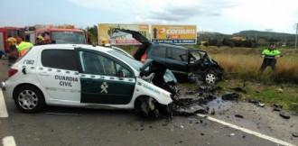 L'accident d'un home contra dos cotxes de la Guàrdia Civil va ser fortuït