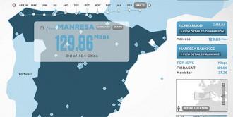 Fibracat situa Manresa com la ciutat més ràpida en connexió d'Internet