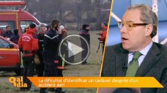 Josep Arimany explica les dificultats de la identificació dels cossos a l'accident aeri