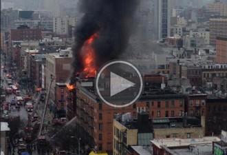 Un espectacular incendi al centre de Nova York deixa 19 ferits