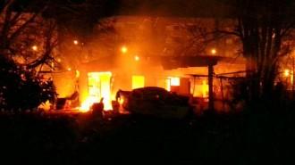 Un foc calcina una casa de Blanes
