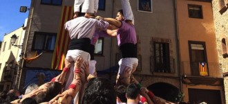 Castells de 7 de Xiquets de Reus i la Jove de Tarragona a Riudecanyes