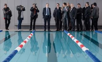 Artur Mas inaugura l'EAS Taradell, que inclou l'esperada piscina coberta