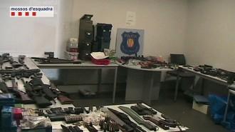 Un estiuejant de Planoles, enxampat amb un gran arsenal d'armes il·legals