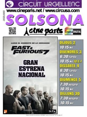 ...us convidem a l'estrena nacional de Fast&Furious 7 al Cine París