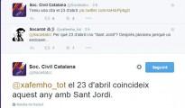 Societat Civil Catalana: «Aquest any el 23 d'abril coincideix amb Sant Jordi»